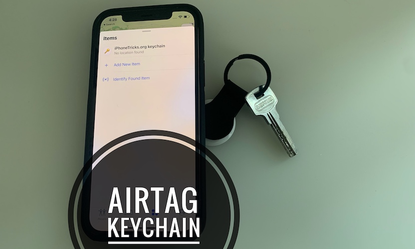AirTag keychain from Nomad