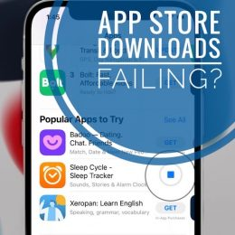 App Store download failing