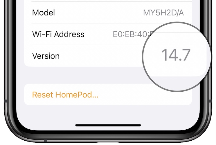 HomePod updated to 14.7