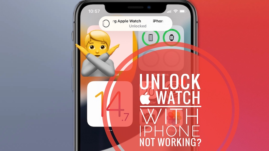 Unlock Apple Watch with iPhone not working