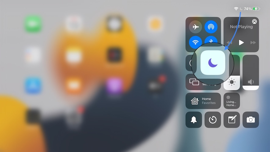 disable do not disturb to fix iPad not charging