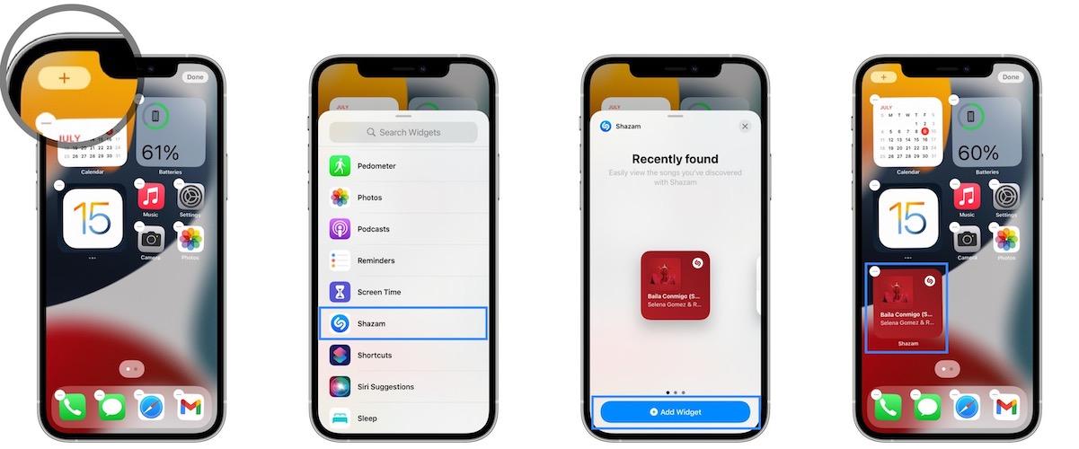 how to add Shazam widget