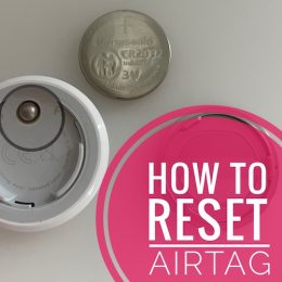 how to reset AirTag