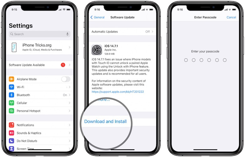 iOS 14.7.1 download
