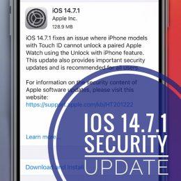 iOS 14.7.1 update