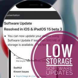 iOS 15 Low Storage Updates