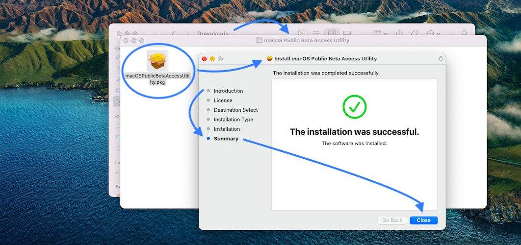 macOS Monterey Public Beta Profile installation