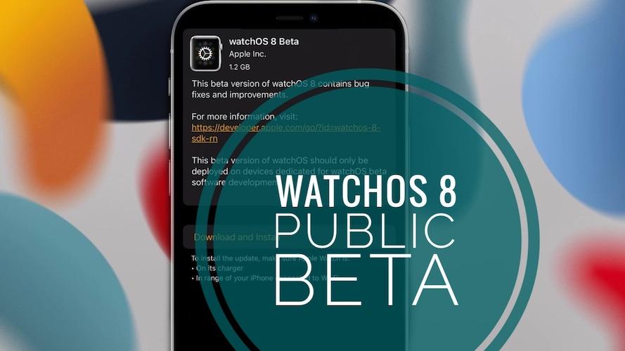 watchOS 8 Public Beta update