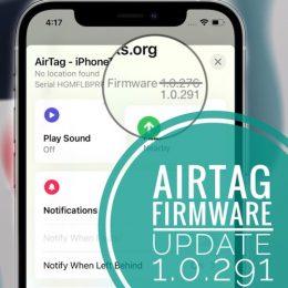 AirTag firmware 1.0.291