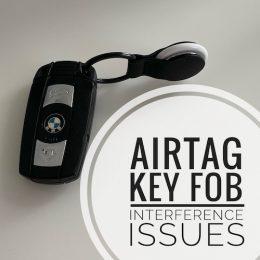 AirTag key fob issues
