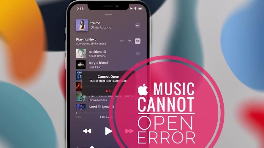 Apple Music Cannot Open Error