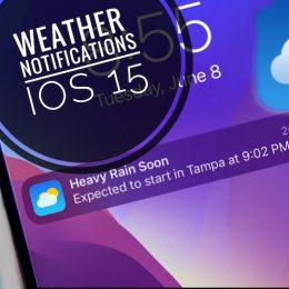 Rain Notification on iPhone Lock Screen