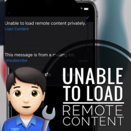 Unable to load remote content privately