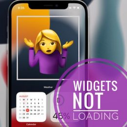 Widgets not loading on iPhone