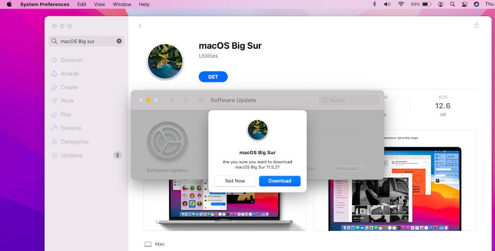 download macOS Big Sur from Mac App Store