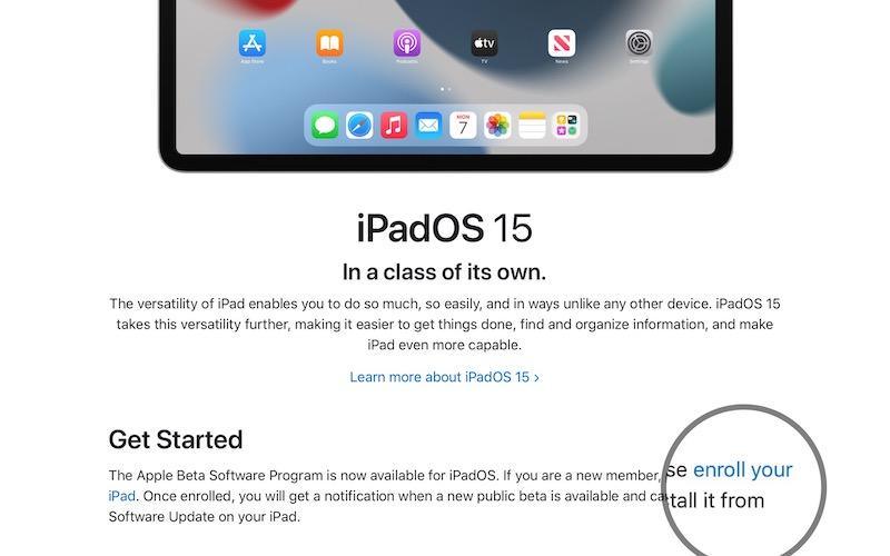 how to download iPadOS 15 beta profile
