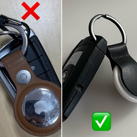 how to fix AirTag key fob interference