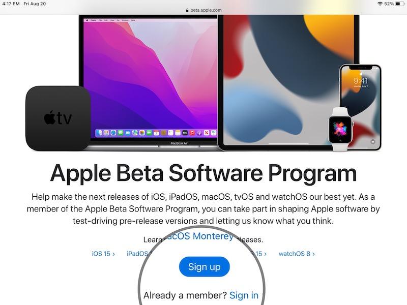 how to install iPadOS 15 Public Beta
