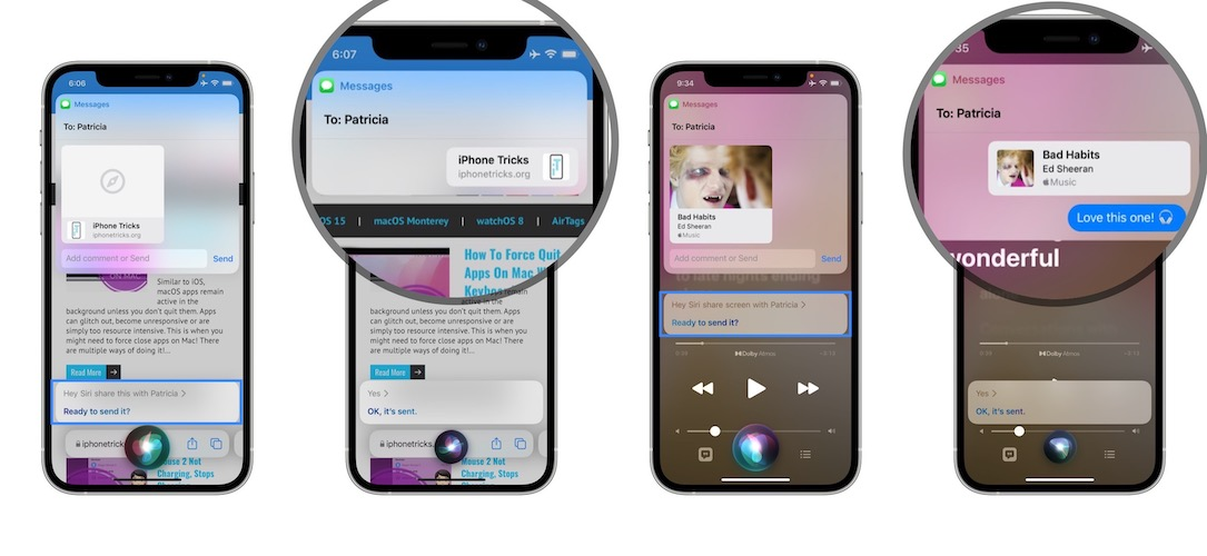 how to share screen content with contacts