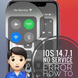 iOS 14.7.1 No Service bug