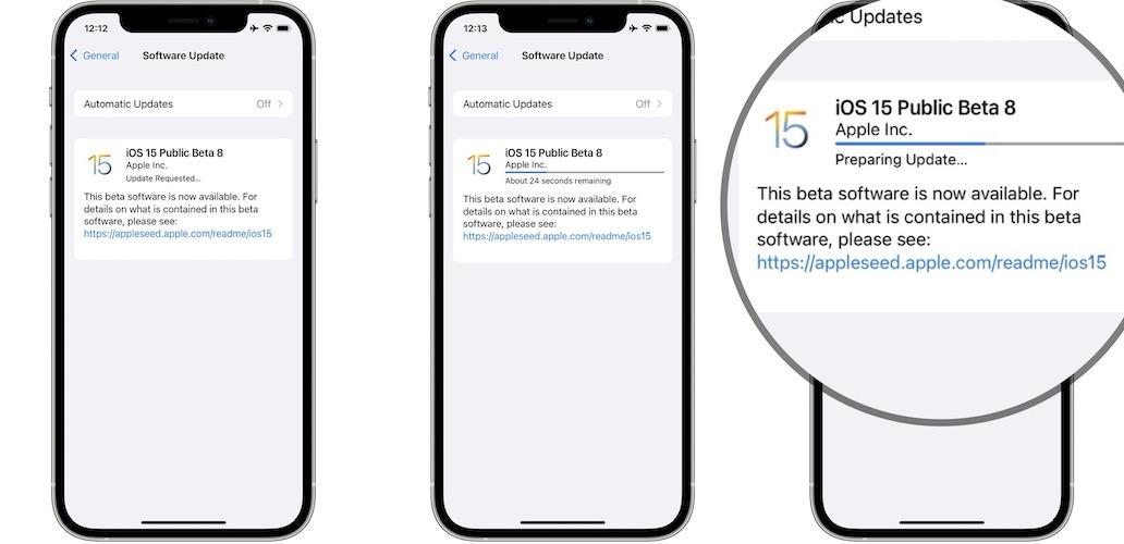 iOS 15 Beta 8 download