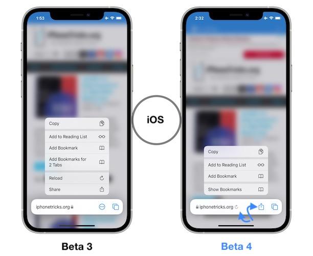 ios 15 beta 3 vs beta 4