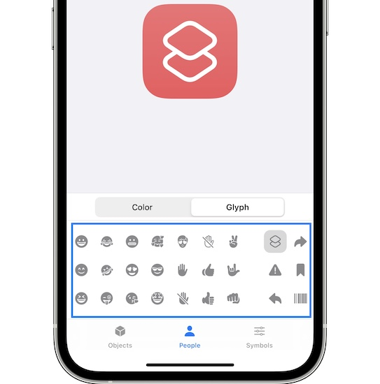 new Shortcut icons in iOS 15 Beta 5