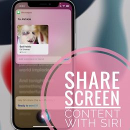 Share iPhone screen content with Siri
