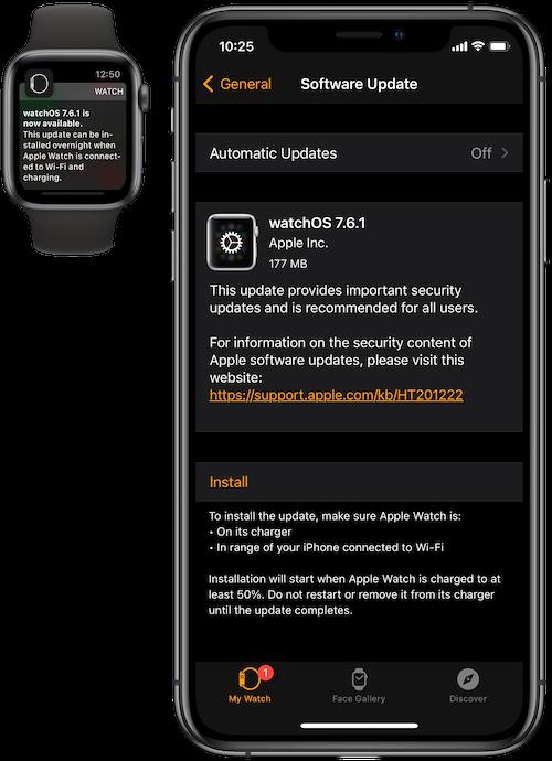watchOS 7.6.1 software update