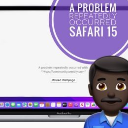 A Problem Repeatedly Occurred in Safari 15