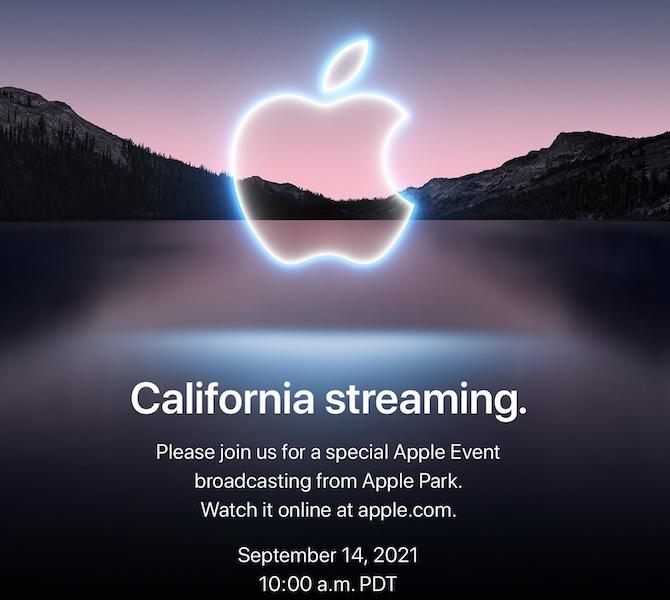 California Streaming Apple Event invite
