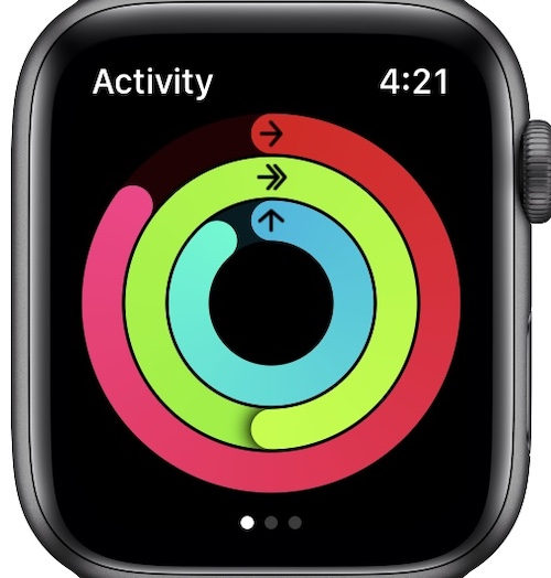 Exercise rings in Activity app
