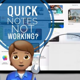 Quick Notes not working on iPad