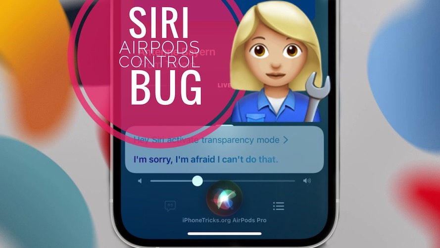 Siri AirPods Control Not Working