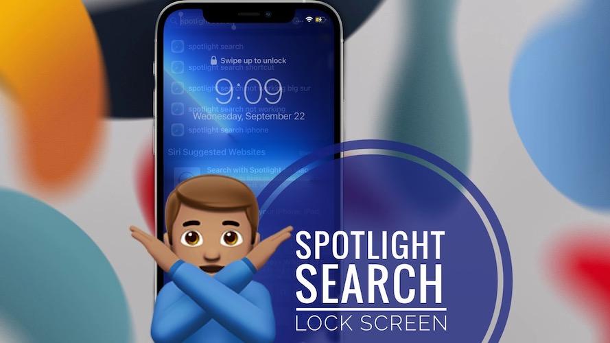 Spotlight Search on Lock Screen