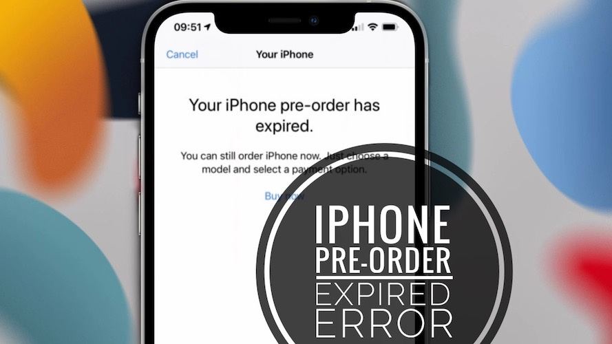 Your iPhone pre-order has expired error