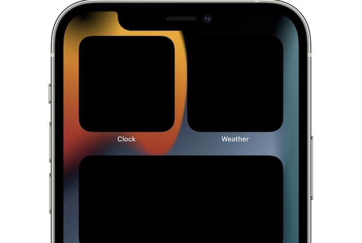 black widgets on iphone home screen