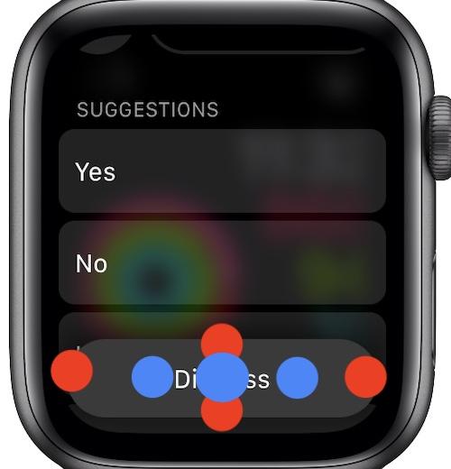 dismiss button touch matrix