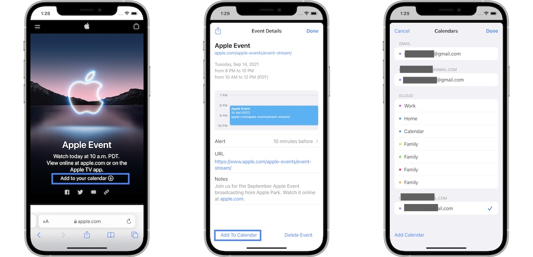 how to add iPhone 13 event reminder to Calendar app