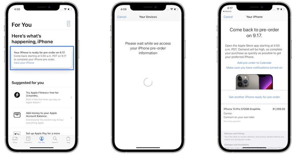 how to check iPhone 13 pre-order pre-approval
