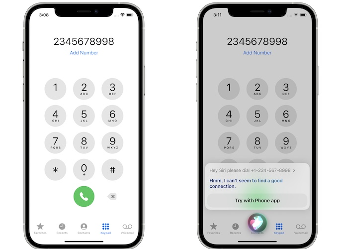 how to dial phone number with Siri