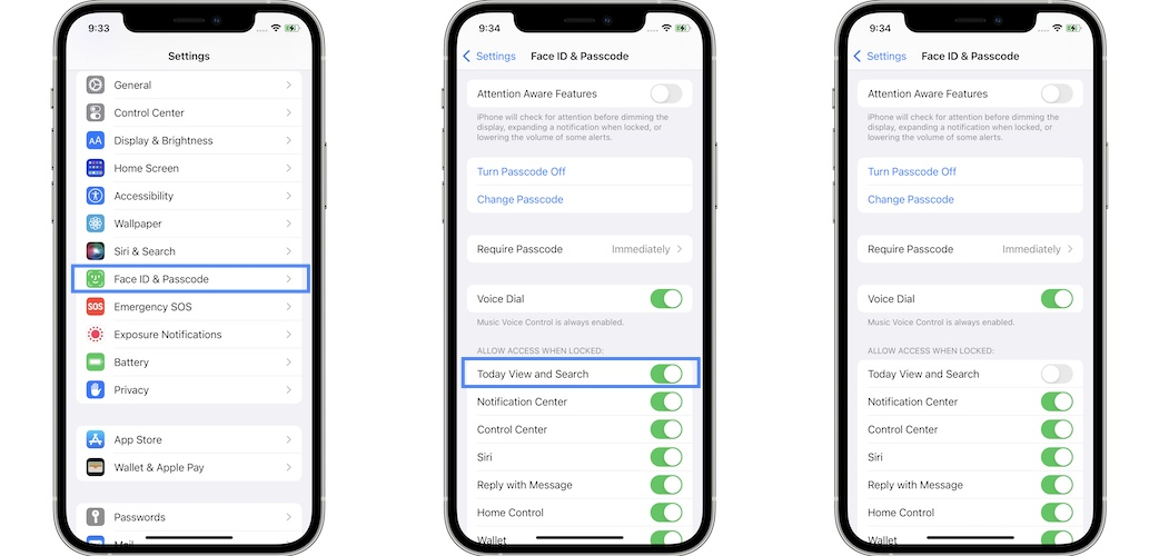 how to disable spotlight search on lock screen