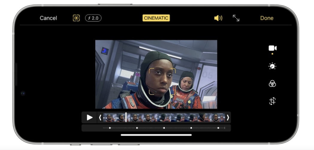 how to edit cinematic mode videos on iphone 13