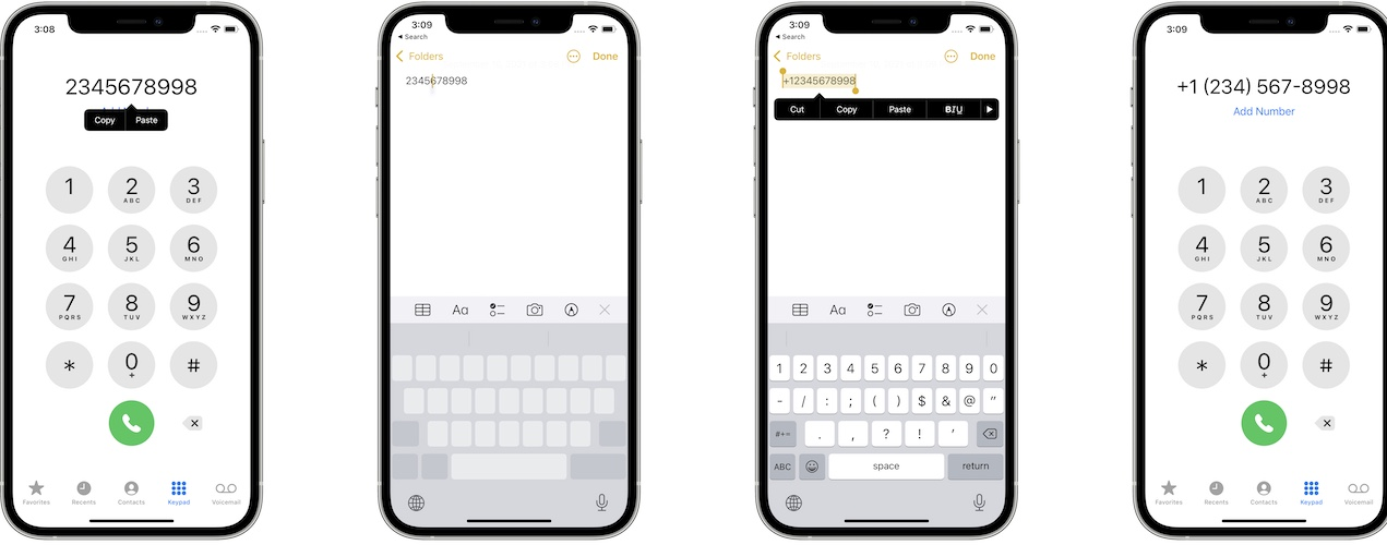 how to edit mistyped phone number