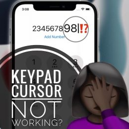 how to fix cursor not working in keypad