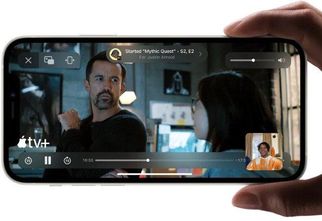 iOS 15 FaceTime shareplay demo