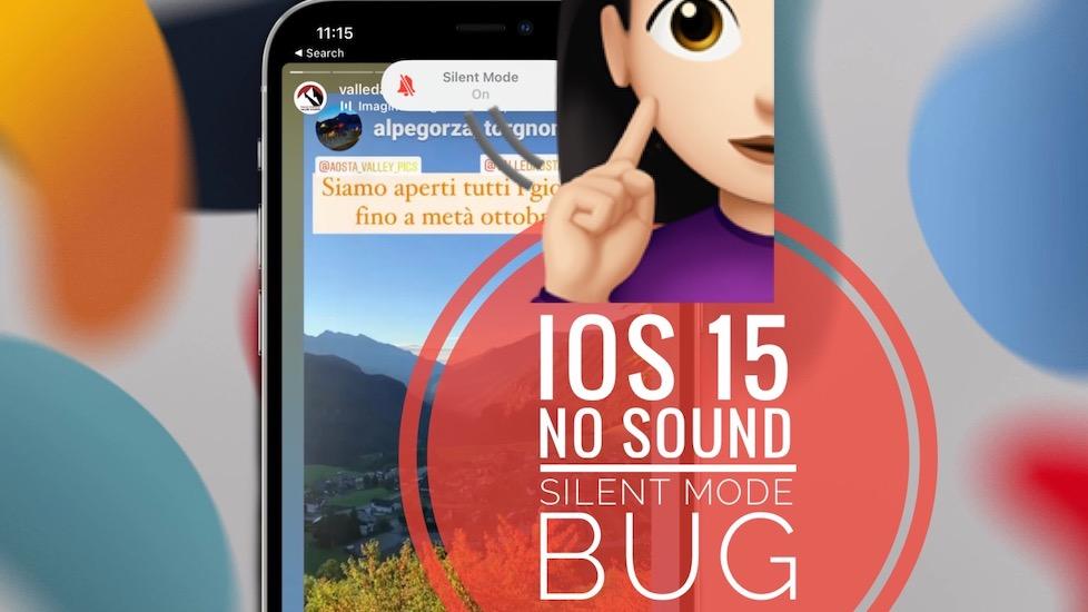 iOS 15 No Sound Bug