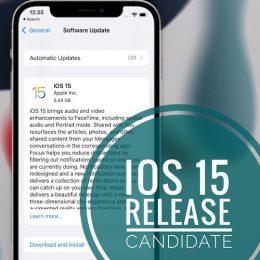 iOS 15 RC update