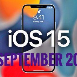 iOS 15 September 20