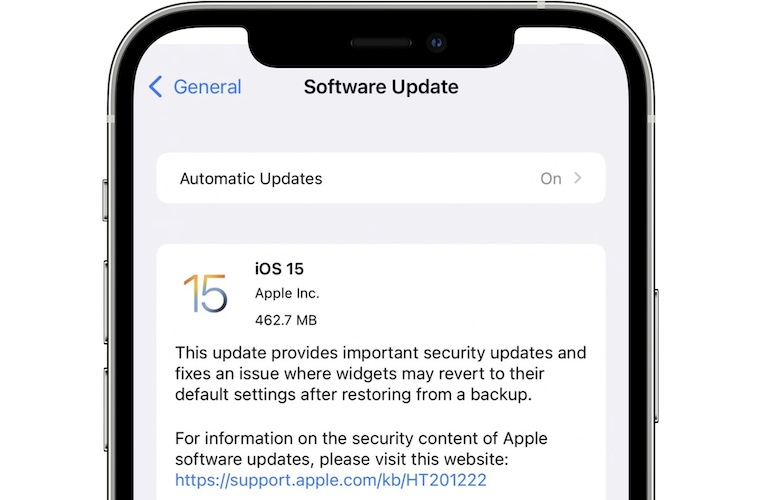 iOS 15 update for iPhone 13